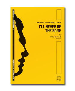 I'LL NEVER BE THE SAME (ORCH+VOX)