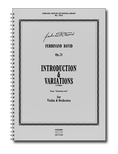 F. DAVID, Op.21 - Introduktion & Variationen (ORCH+VLN-SOLO)