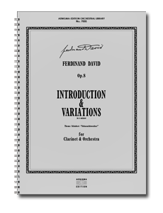 F. DAVID, Op.8 - Introduktion & Variationen (ORCH+KLAR-SOLO)