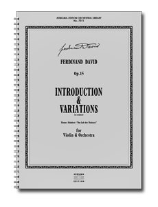 F. DAVID, Op.15 - Introduction & Variations (ORCH+VLN-SOLO)